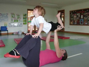 A gym session at The Strawberry Patch Nursery, Norfolk